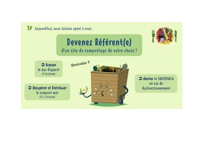 Devenez référent(e) d'un site de compostage collectif de votre choix !