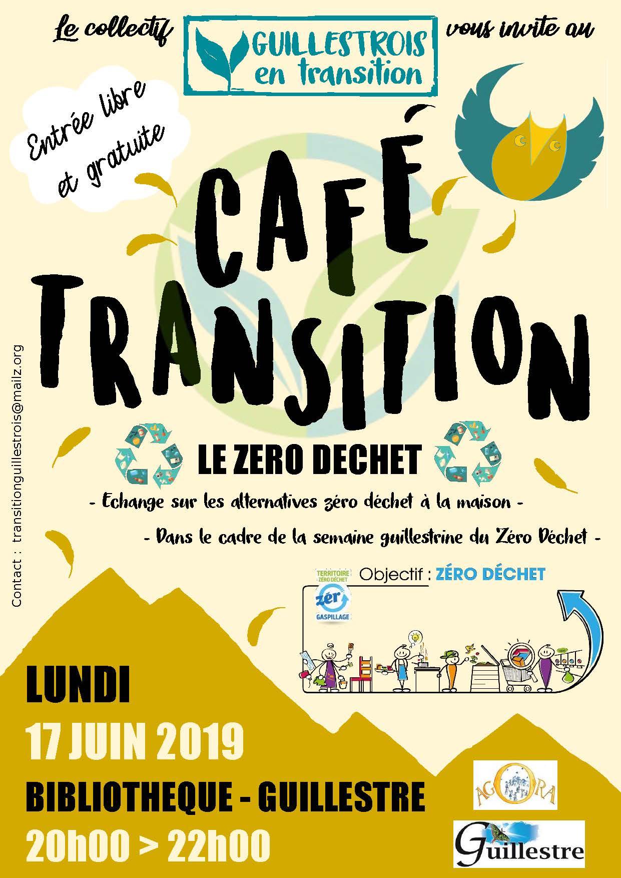 Affiche cafe transition zerodechet