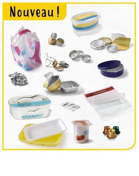 TRI des emballages : désormais tous les plastiques et aluminiums vont dans le bac jaune!